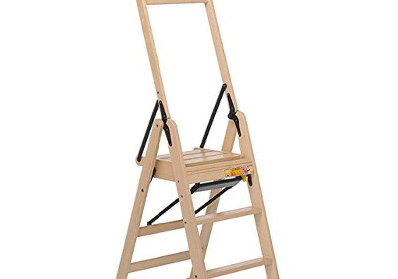 Maslegno sgabello legno retrattile scaletta scala gradini